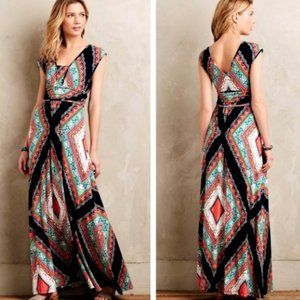 Anthropologie Maeve verda jersey maxi dress